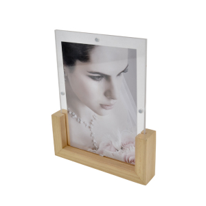 wholesale standard size 4x6 inch clear acrylic magnetic photo frame