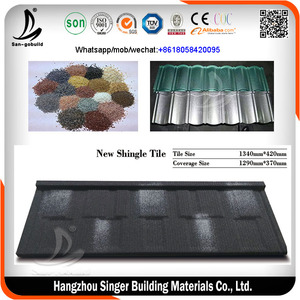San-gobuild Stone Coated Tiles Metal/Shanghai building materials/house roof manufacturers