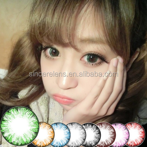 Meetone Ice cosmetic cheap colored contacts 14.5mm 8 colors soft color lenses