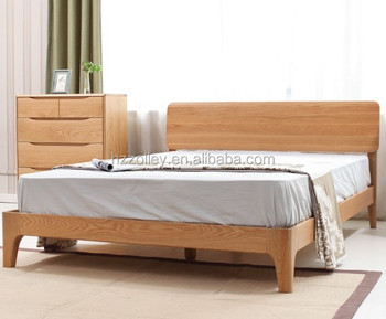 Traditional Natural Furniture Solid Wood Queen Bed Frame Sideboard