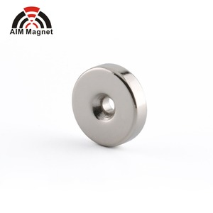 Disc/Round Countersunk N38 Mini Nickel Coated magnetic magnet with Hole