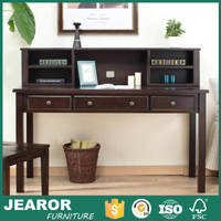 Modern Solid Ash Wooden Rustic Home Office Writing Desk with Hutch 4001