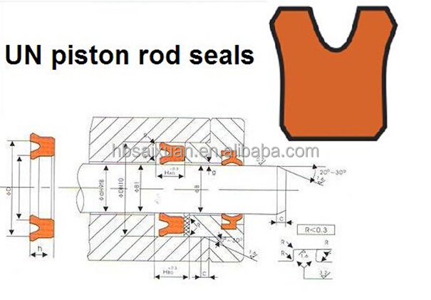 Pu Un Hydraulic Bearing Seal Piston And Rod Seal Shaft