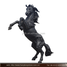 Outdoor Large bronze rearing horse sculpture for garden decoration