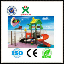 Early Kids Play metal playground slide/plastic play house with slide/playground equipment for kids/QX-11019B