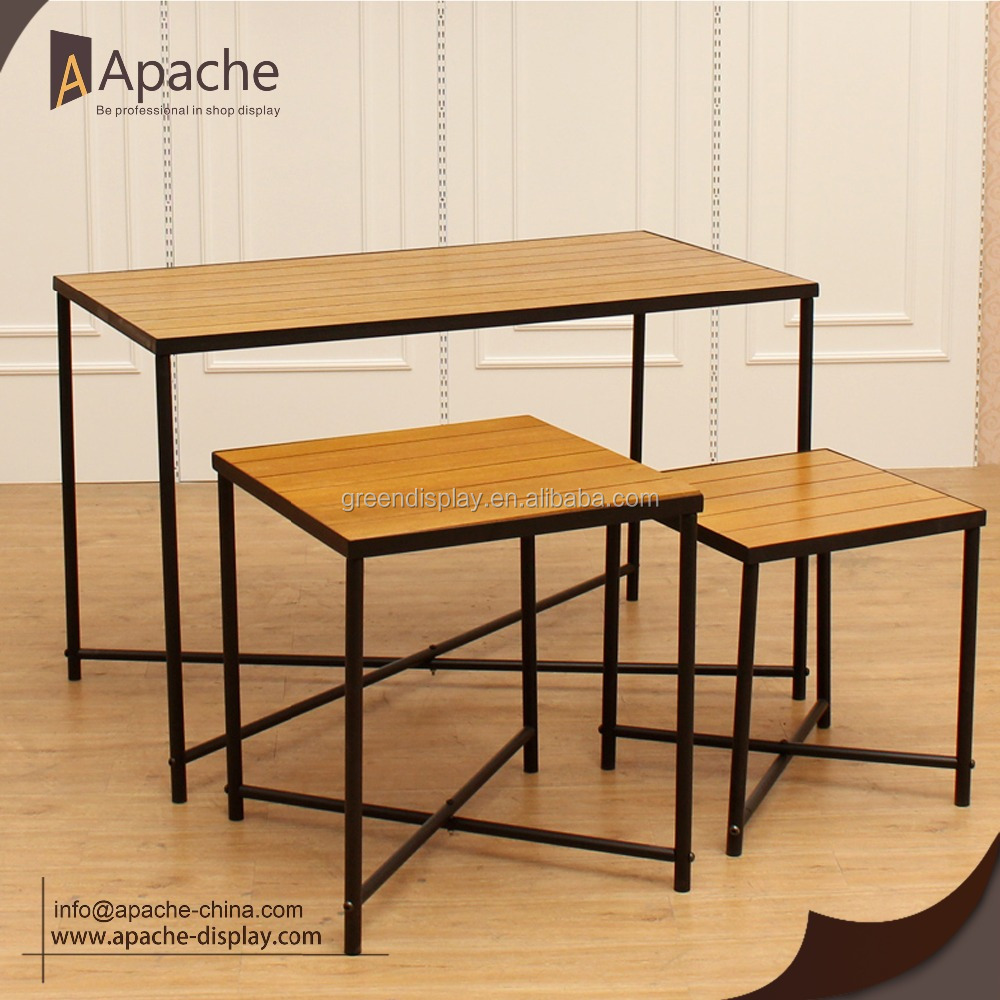 High Quality Wooden Display Table Clothing Store Display Furniture