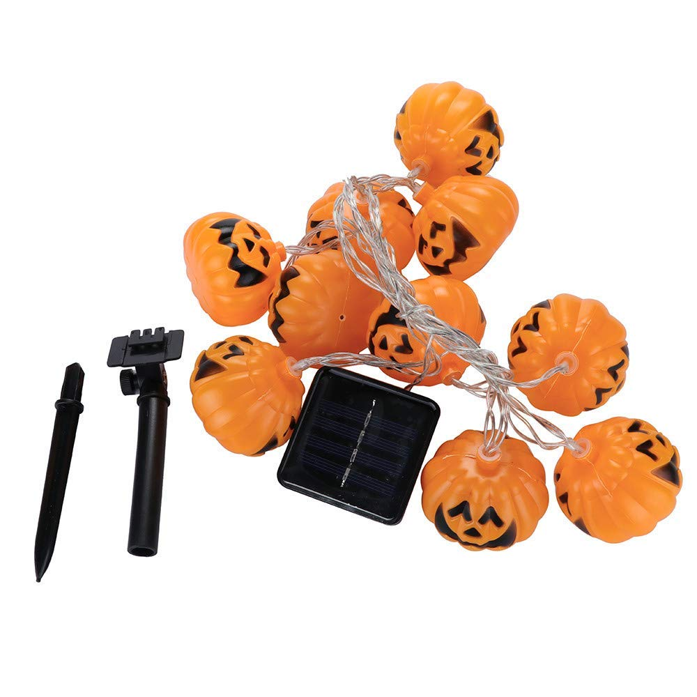 Cocal 10pcs Halloween Ghost Festival Pumpkin Lantern LED String Lights Party Decoration, 2.5M
