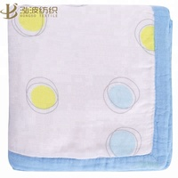 6layer circled design bamboo fiber kids swaddle blankets