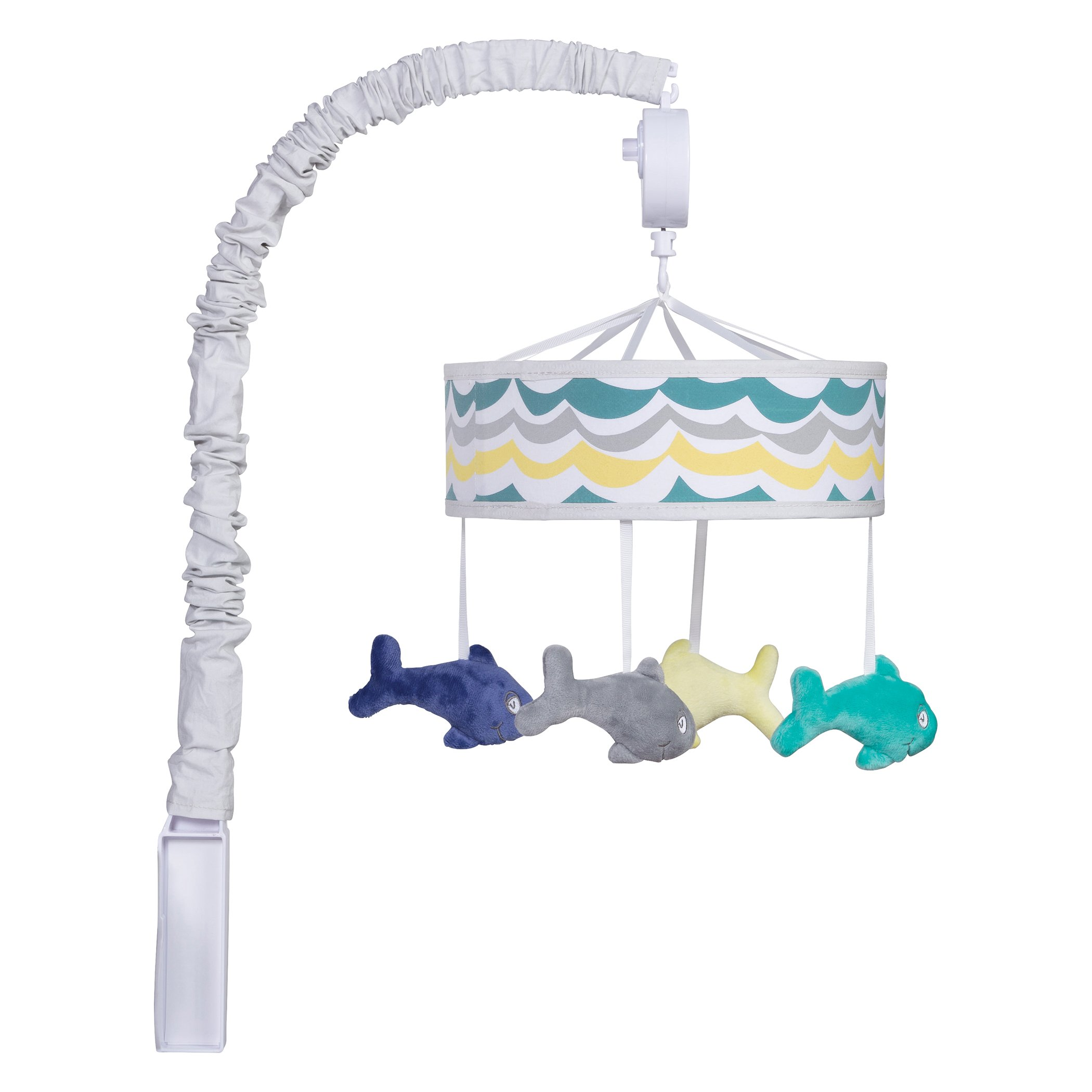 Trend Lab Dr. Seuss New Fish Musical Mobile, Gray/Teal/Blue/Yellow
