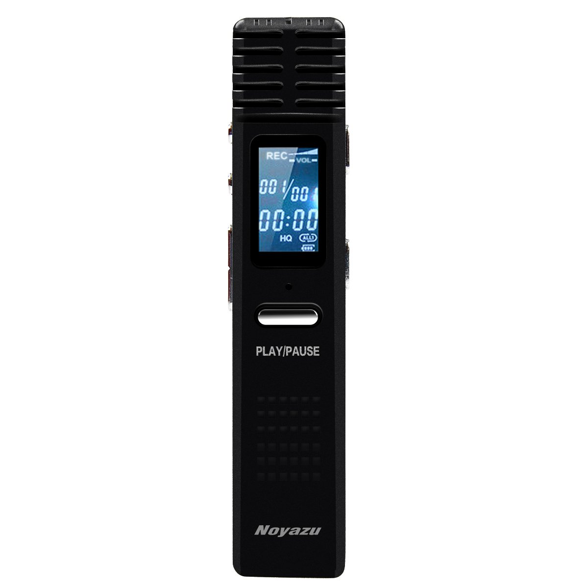 NOYAZU X1 8G Long Time Recording Digital Voice Recorder Voice Activated Record Stereo Recorder Rechargeable Dictaphone LCD MP3 Player for Classes Lectures Meetings Notes (Black)