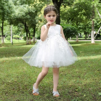 Boutique Children Ball Gown Dresses Baby Girl Wedding Dress Little