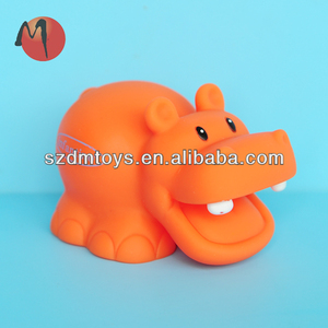 Plastic hippo toy,rubber hippo bath toy