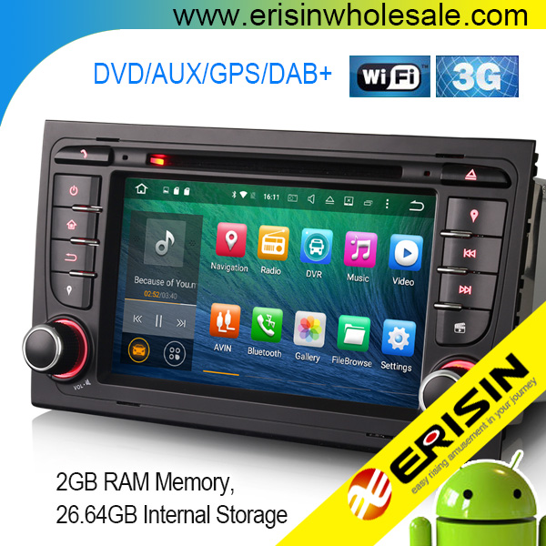 "Erisin ES5078A 7"" Android 6.0 lollipop Car multi-media stereo Audio System with GPS SatNav DVR for A4 SEAT EXEO"