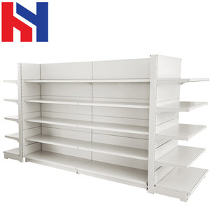 Convenience European Style retail store fixtures gondola shelving