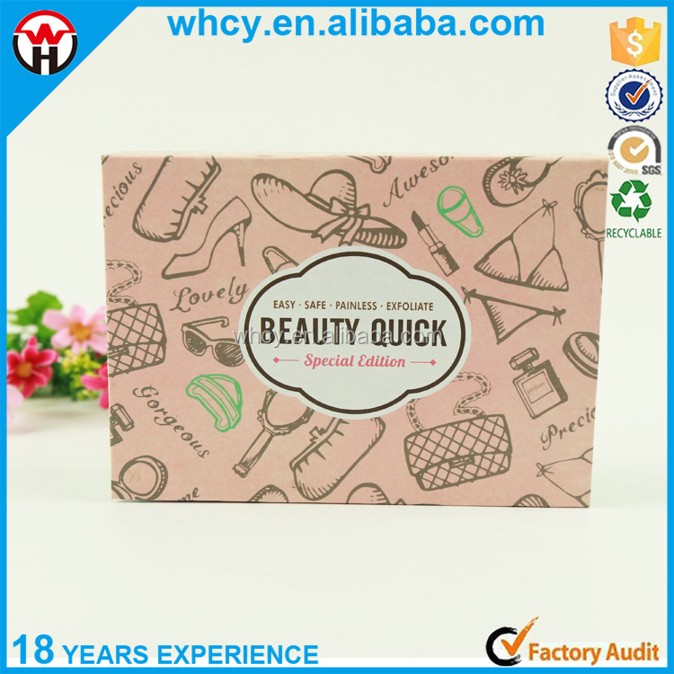 Wholesale flower printing folding cardboard box paper box