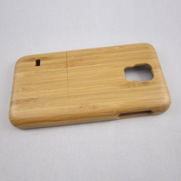 Real carbonized bamboo wooden case,custom logo phone back cover for Samsung S5