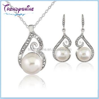 Fashion Diamond And Original Pearl Sets Dubai Gold Jewelry Pearl
