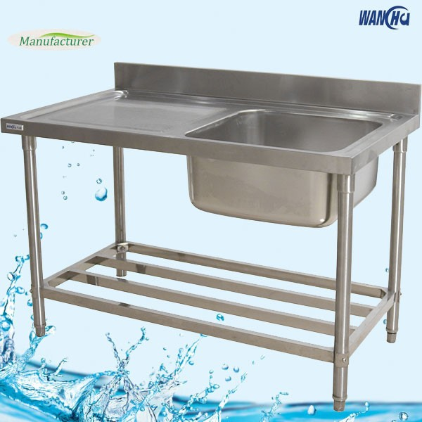 Kitchen Sink Table With Board - Buy Commercial Stainless Steel Sinks ...