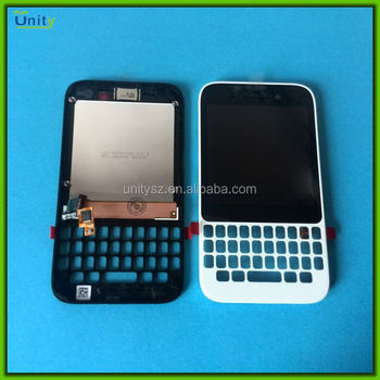 Mobile phone spare parts for Blackberry Q5 LCD digitizer assembly with frame low price