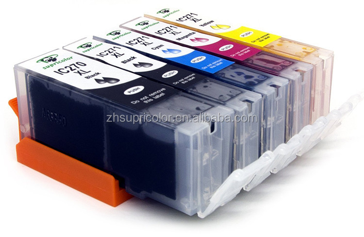 Supricolor High profit compatible ink cartridge pgi-270XL cli-271XL for Canon pixma printer MG5721 MG5722