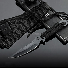 GJ-003 Stainless Steel Full Tang Diving Knife Outdoor Survival Fixed Blade Knives With Nylon Sheath