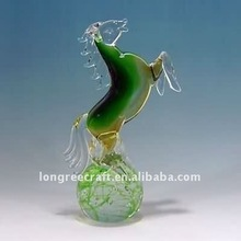 Hand Blown Glass Horse Design as Party Decoration-LRT107