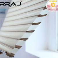 RRAJ Triple Fabric Office Window Blind for Gently Fillting Natural Light
