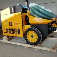 Hot diesel engine mini stationary lightweight cement mixer pump hydraulic malaysia foam trailer concrete pump