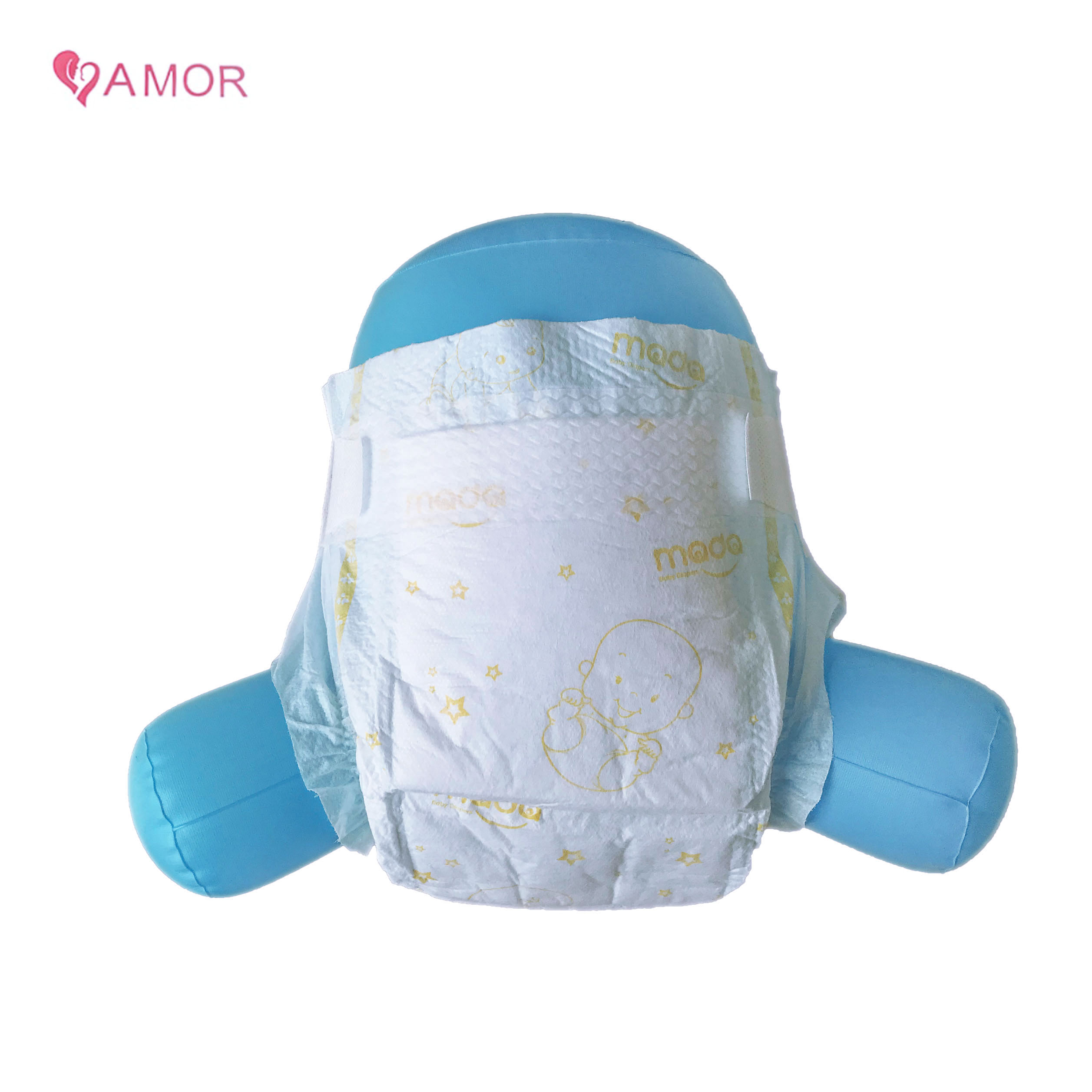 Free Sample OEM&ODM Soft and Breathable Elastic Waistband Adjustable Disposable Baby Diaper