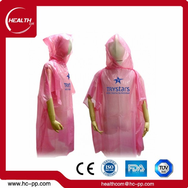 2018 New Design Disposable Women's Reflective Blank Rain Coat