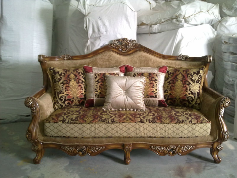S1416 Foshan Fabric Sofa Furniture Living Room Wooden