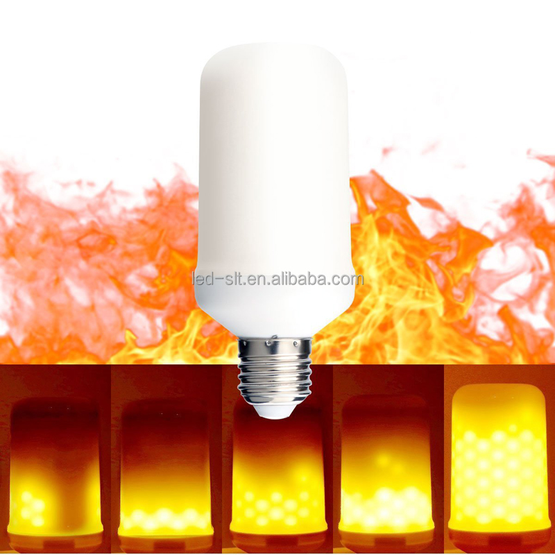 Best Promotion 6w 4w 2835 SMD LED Lamp Bulb E27 B22 Yellow Flickering Flame Effect Fire LED Light Bulb Corn Light Bulb