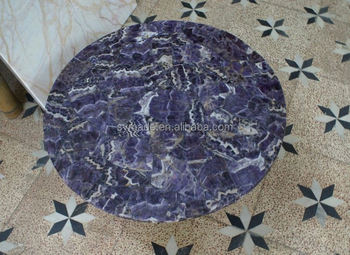 Semi Precious Amethyst Geode Marble For Counter Top And Flooring