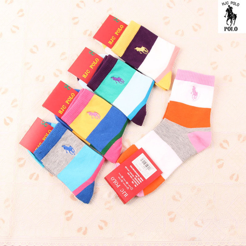 Spring Summer Casual Female Socks Women Brand Cotton Women Socks Colorful Polo Cotton Socks For Women 10 Pieces = 5 Pairs/lot