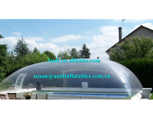 customized commercial grade pvc inflatable transparent pool dome ,swimming pools clear cover tent ,outdoor blow up pool tent