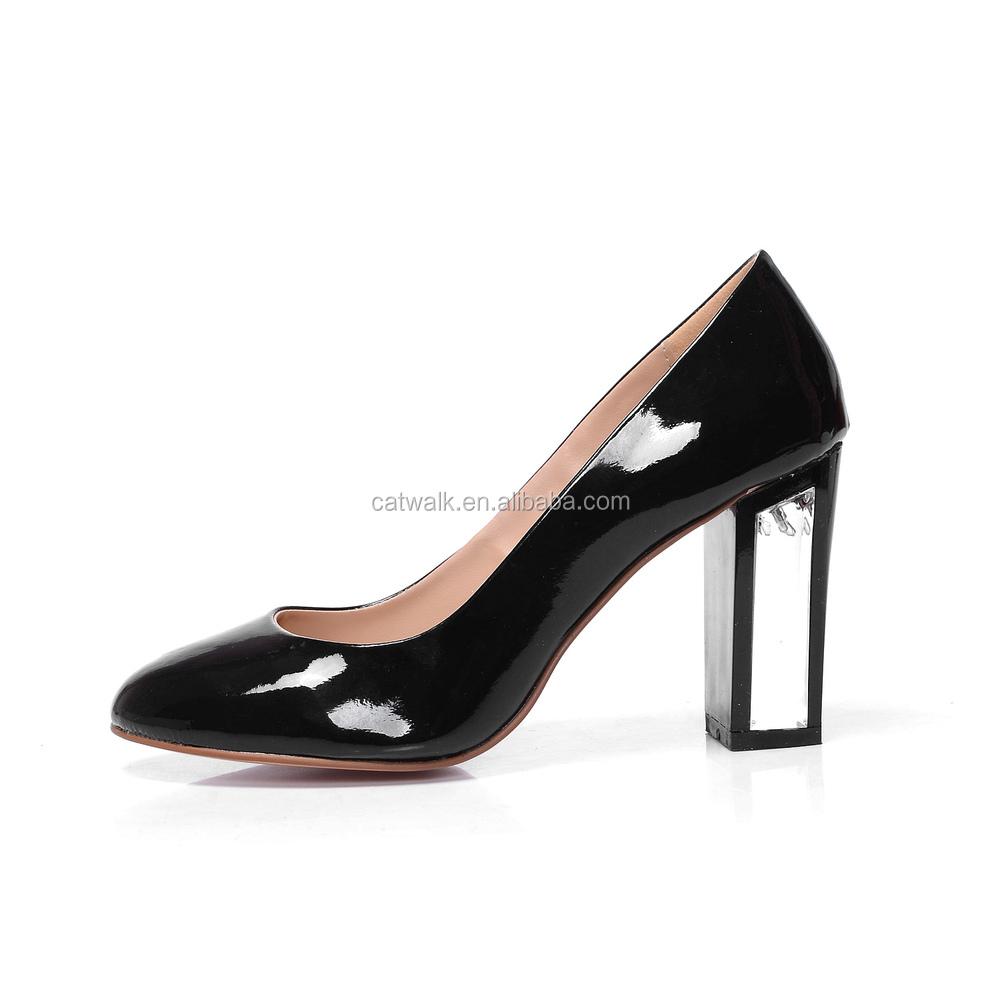 Black High Heels 2015 Fashion Dress Shoes Special Heels Design ...