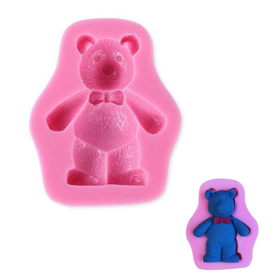 WJSYSHOP Bear Shape Silicone Fondant Mold Decorating Cake Baking Mould – Bear