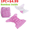 1PC Reusable Waterproof Cloth Diaper Baby Nappy Bamboo Material Inside Wholesale Selling Selling