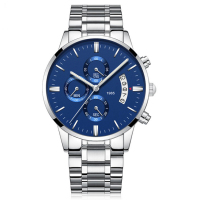 Trendy stainless steel business usa watch brand men
