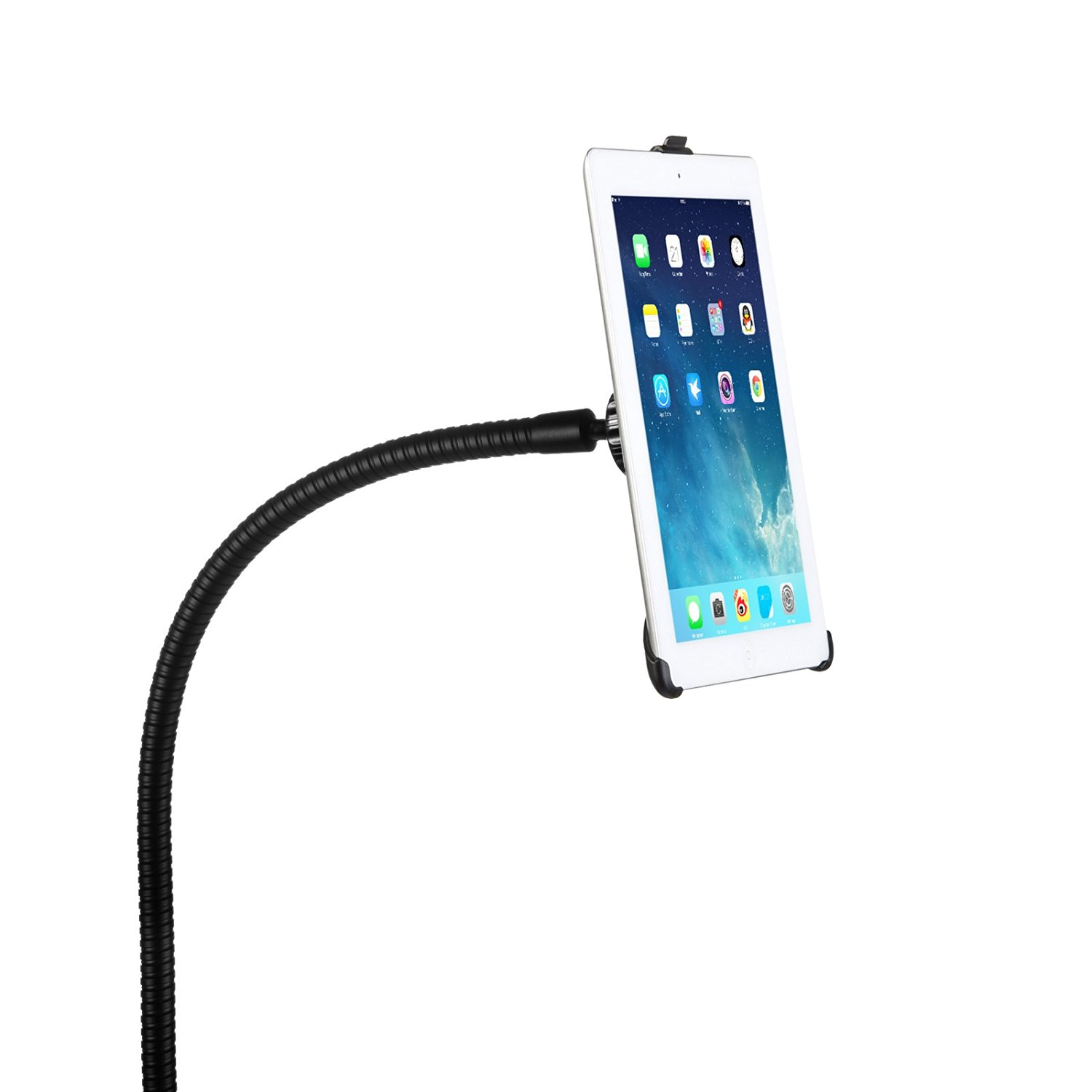 Taotronics Full-motion Rotatable Desktop / Bed Clamp Steel Mount Holder with 360 Degree Adjustable Gooseneck Arm Support Stand for iPad 2 3 4 + FREE Protective Back Skin