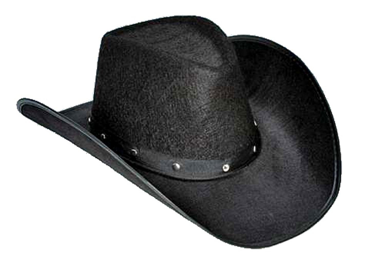 f7274876f76c3 BLACK COWBOY TEXAN HAT WITH STUDS