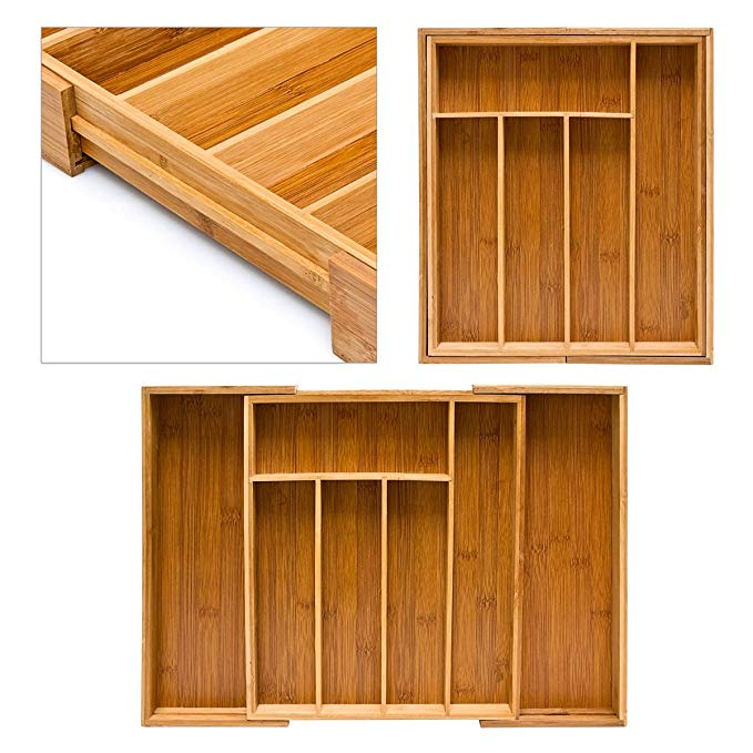 High Quality Bamboo Drawer Organizer 3