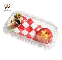 Commercial organic compostable plastic hot food packaging