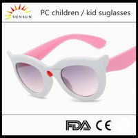 Wholesale custom logo child glasses UV400 kid sunglasses cat eye eyewear