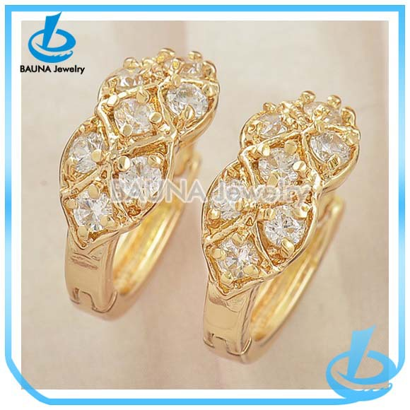 earrings hoop diamond jewelry from design engagement women product gold quality plated for beautiful swiss rose cz top new small