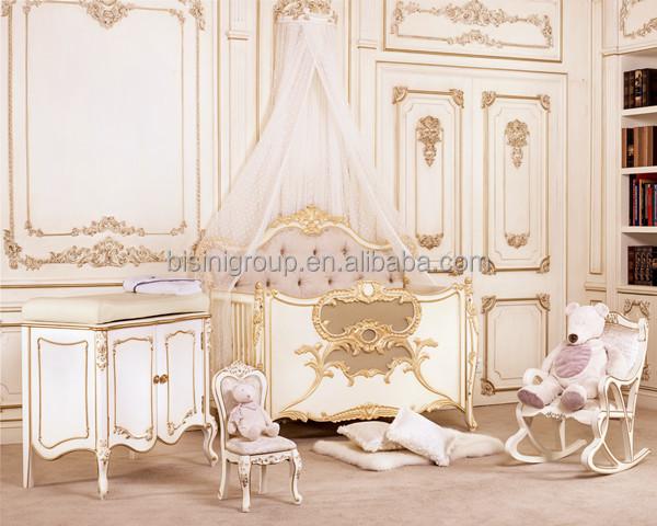 Baby Bed Wieg.Bisini Luxe Royal Crown Maat Kleur Pasgeboren Houten Baby Bed Wieg