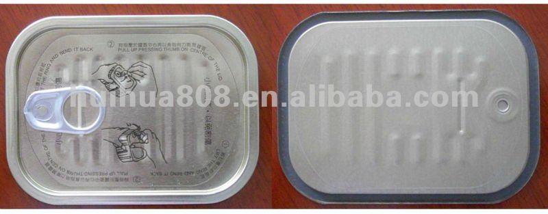 rectangular tinplate easy open end for canned food