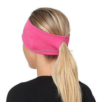 Women s Power Sports Ponytail Stretch Headband - Buy Ponytail ... a23adf96c9d