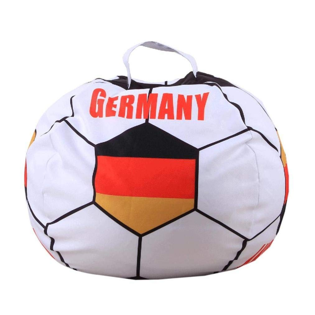 ManxiVoo World Cup Fans Seat Bag,Kid Stuffed Animal Plush Football Toy Storage Bean Bag Soft Pouch Fabric Chair
