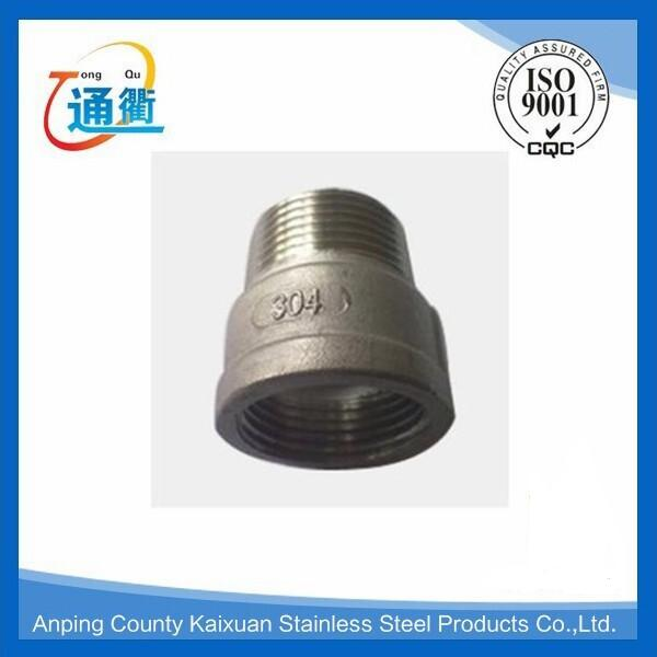 casting stainless steel 304 male to female thread reducer